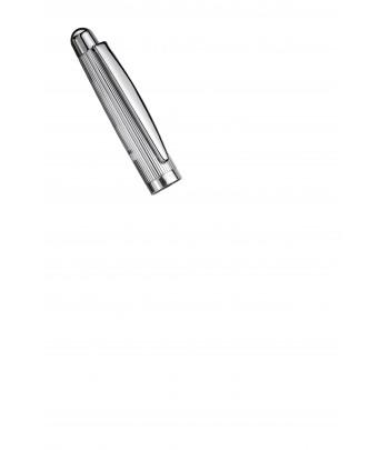 Roller Otto Hutt Design 02 - Détail capuchon argent ligné
