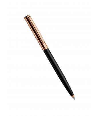 Stylomine Design 01 capuchon doré or rose lisse, corps laqué noir