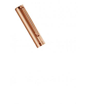 Roller Design 01, capuchon doré or rose ligné.