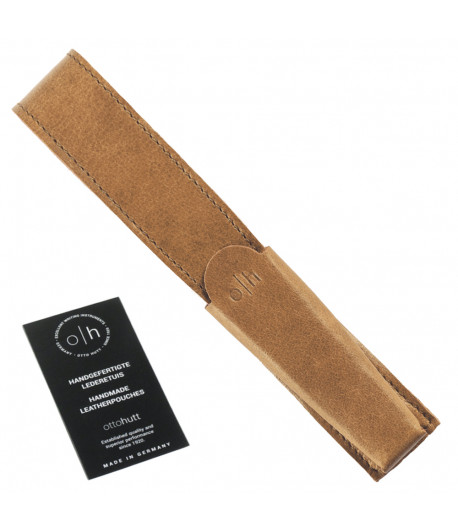 Étui cuir beige pour un stylo