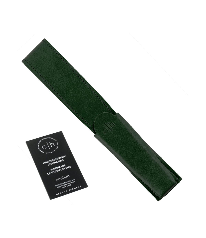 Étui cuir vert pour un stylo